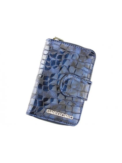 Dámská kožená peněženka Gregorio FS-115 modrá
