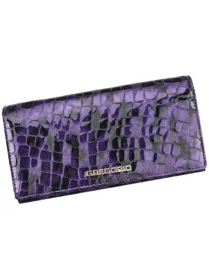 Dámská kožená peněženka Gregorio FS-114 fialová
