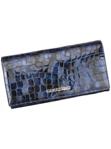 Dámská kožená peněženka Gregorio FS-102 modrá