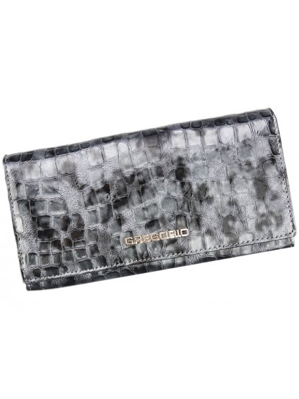 Dámská kožená peněženka Gregorio FS-102 šedá