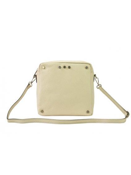 Kožená crossbody kabelka Patrizia Piu 418-005 béžová