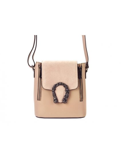 Kožená crossbody kabelka Patrizia Piu 01-063 růžová