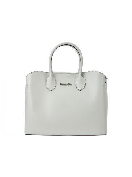 Dámská kožená kufříková kabelka Patrizia Piu 01-033 světle šedá