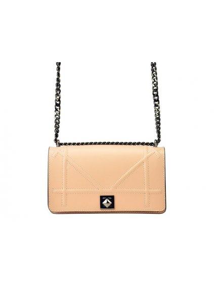 Kožená crossbody kabelka Patrizia Piu 01-043 světle růžová