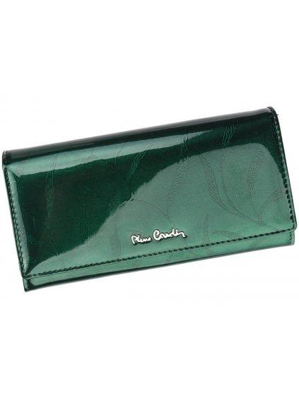 Dámská kožená peněženka Pierre Cardin 02 LEAF 100 zelená