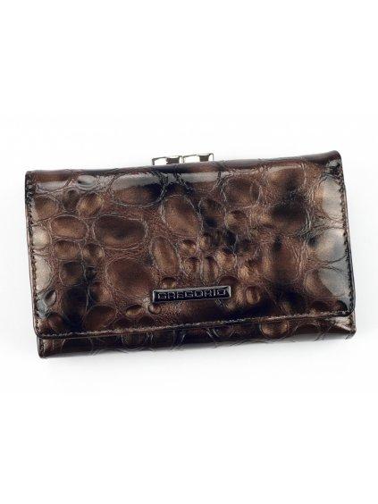 Dámská kožená peněženka Gregorio FZ-108 šedá