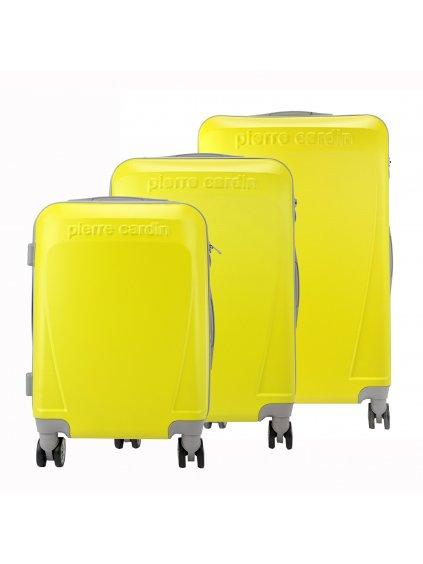 Sada kufrů Pierre Cardin ABS1256 RUIAN10 x3 Z žlutá