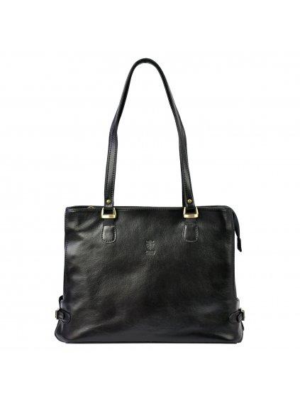 Kožená kabelka přes rameno Florence 14 černá