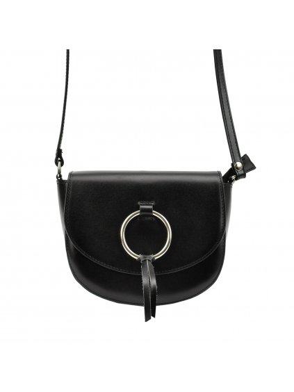Kožená crossbody kabelka Patrizia Piu 418-031-BL černá