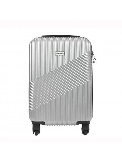 Cestovní kufr Gregorio W4720 S20 stříbrný