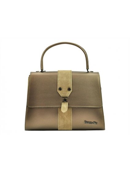 Kožená kufříková kabelka Patrizia Piu 01-037 bronzová