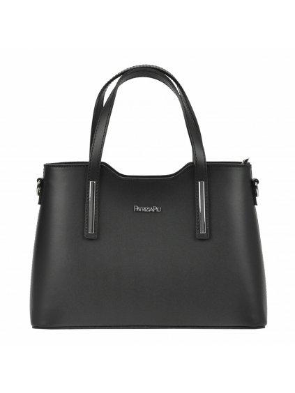 Kožená kufříková kabelka Patrizia Piu 22-005-1 černá