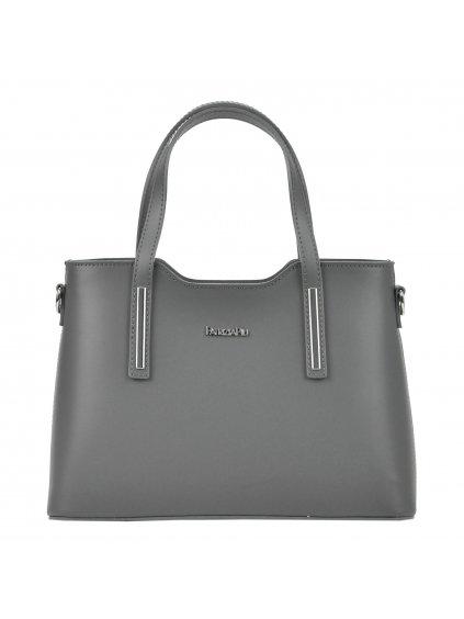 Kožená kufříková kabelka Patrizia Piu 22-005-1 šedá