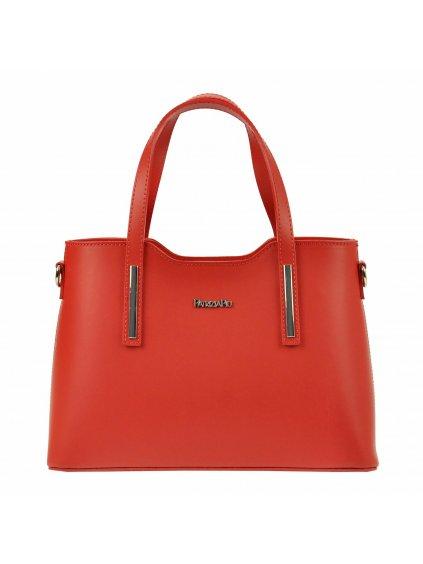 Kožená kufříková kabelka Patrizia Piu 22-005-1 červená
