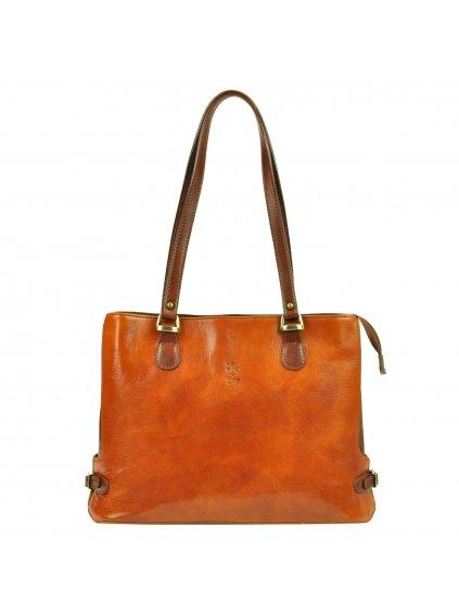 Kožená kabelka přes rameno Florence 14 camel / hnědá