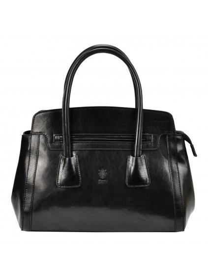 Dámská kožená kufříková kabelka Florence 11 černá