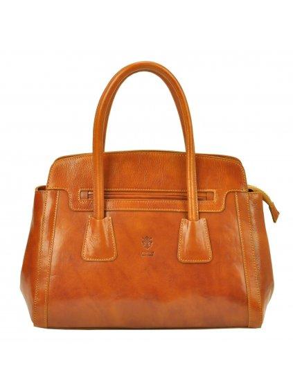 Dámská kožená kufříková kabelka Florence 11 camel