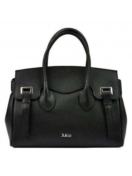 Dámská kožená kufříková kabelka JUICE 112305 černá