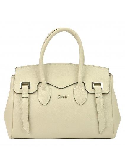 Dámská kožená kufříková kabelka JUICE 112305 krémová