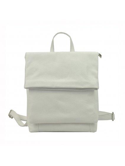 Dámský kožený batoh Luka 19-44 bílý