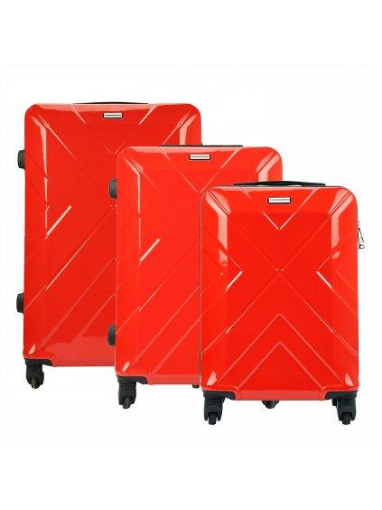 Sada kufrů Gregorio W814 červená
