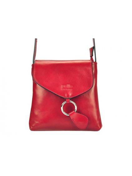 Kožená crossbody kabelka Vera Pelle 025 červená