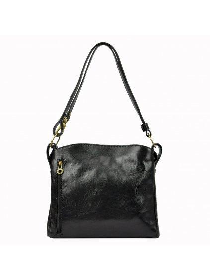 Kožená kabelka přes rameno Marco 6570 černá