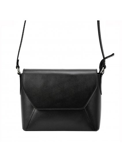 Dámská kožená crossbody kabelka Patrizia Piu 05-004-BL černá