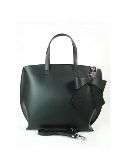 Dámská kožená kufříková kabelka Vera Pelle M03 L černá