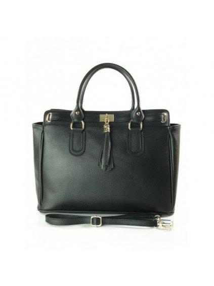 Kožená kufříková kabelka Vera Pelle K4BS černá