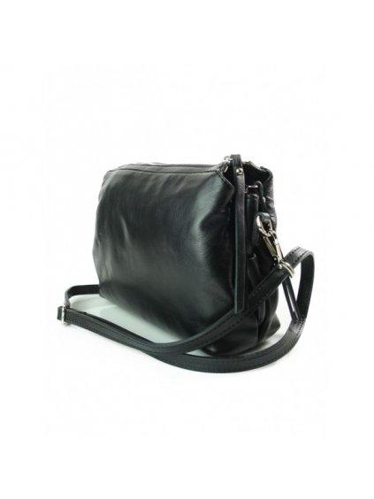 Kožená crossbody kabelka Vera Pelle VP3K černá