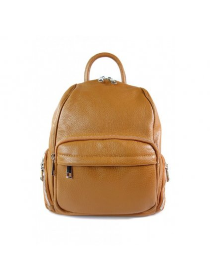 Dámský kožený batoh Vera Pelle VP344C camel