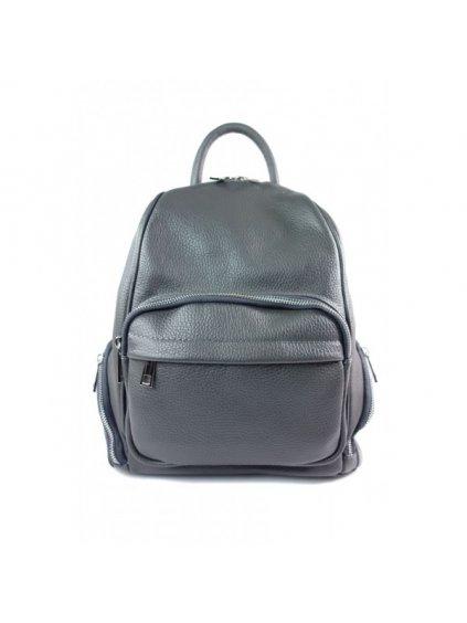 Dámský kožený batoh Vera Pelle VP344C šedý
