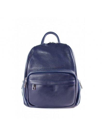 Dámský kožený batoh Vera Pelle VP344C modrý