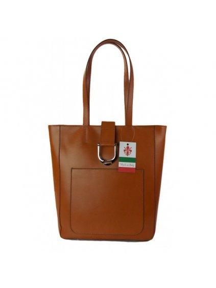 Kožená kabelka přes rameno Vera Pelle SBKB11 camel