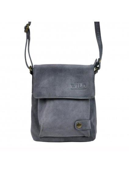 Pánská kožená taška přes rameno Always Wild 012-TGH modrá