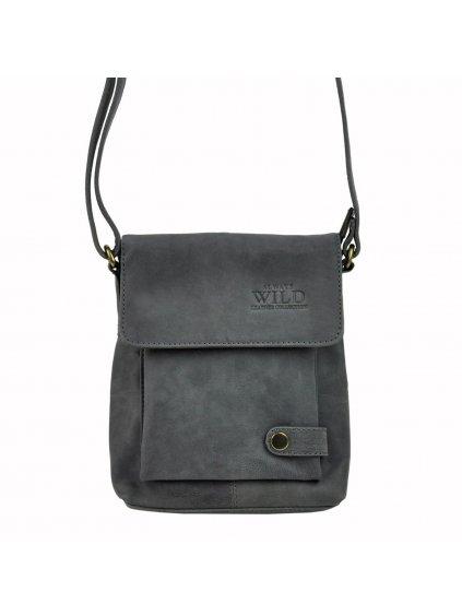 Pánská kožená taška přes rameno Always Wild 012-TGH černá