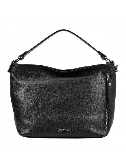 Kožená kufříková kabelka  Patrizia Piu 318-074 černá