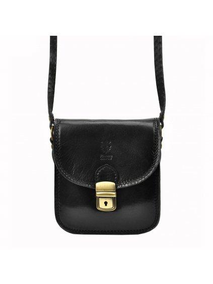 Kožená crossbody kabelka Patrizia Piu 419-014 černá