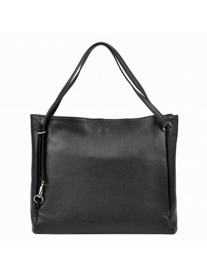 Kožená kabelka přes rameno Luka 19-32 Z černá