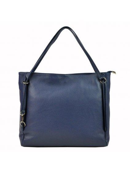 Kožená kabelka přes rameno Luka 19-32 Z modrá