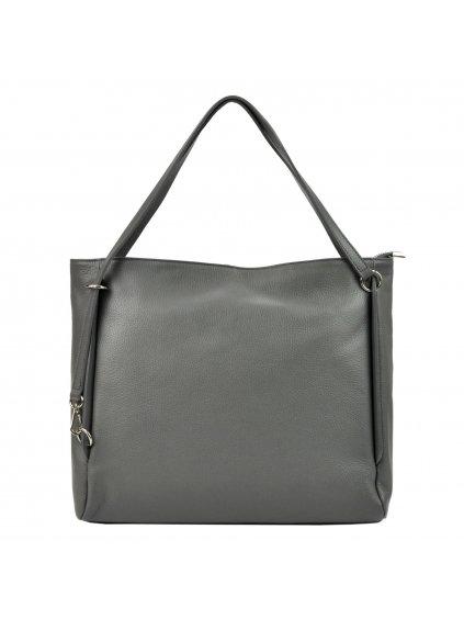 Kožená kabelka přes rameno Luka 19-32 Z šedá