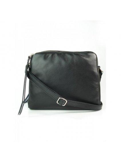Kožená crossbody kabelka Vera Pelle VP333BS černá