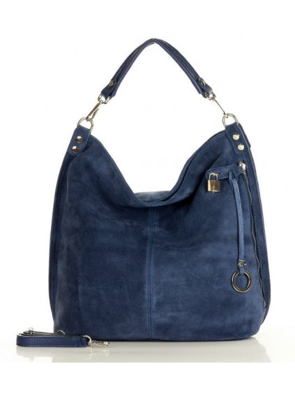 42153 kabelka z brousene kuze mazzini m92mb modra