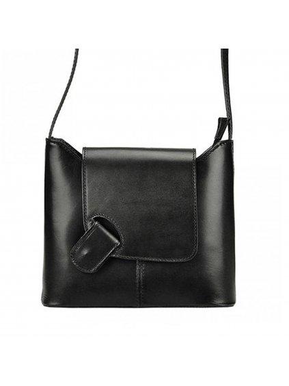 Kožená crossbody kabelka L Artigiano 8141 černá