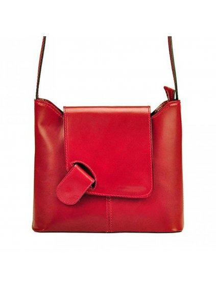 Kožená crossbody kabelka L Artigiano 8141 červená