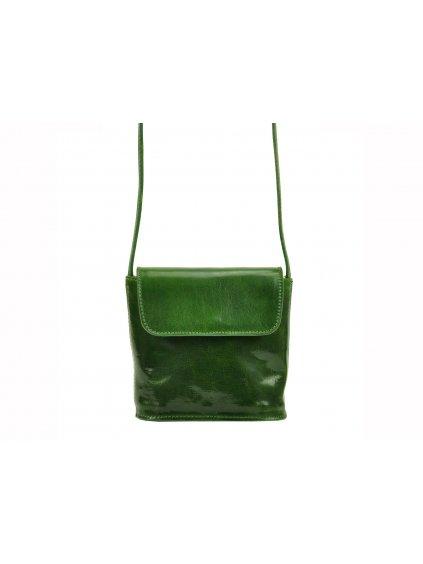 Dámská kožená crossbody kabelka I Fratelli 5523 zelená