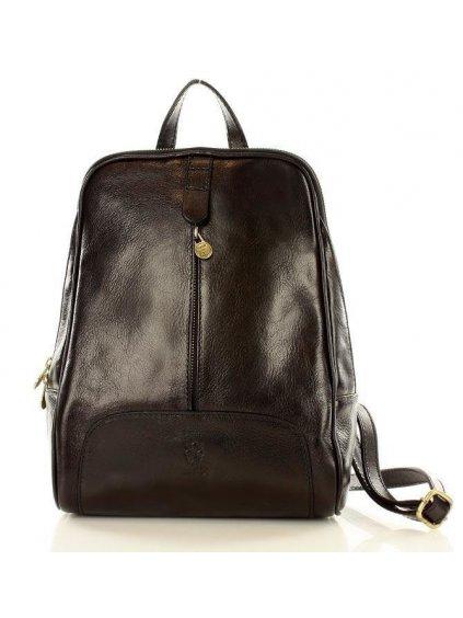 Dámský kožený batoh Vera Pelle MPl30M černý
