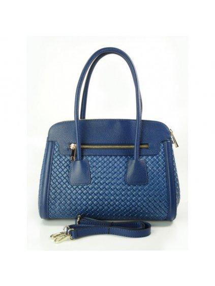 Kožená kufříková kabelka Alessia NM33RX modrá
