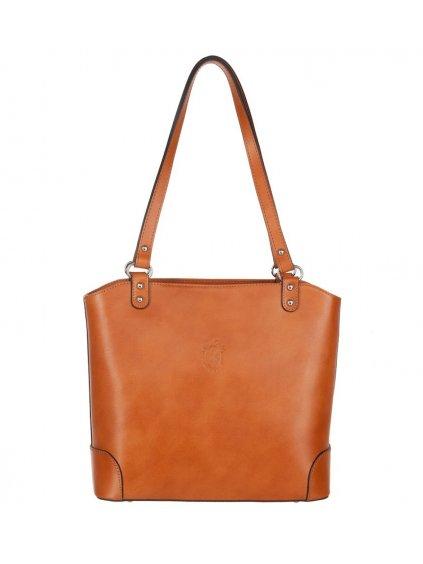 Kožená kabelka přes rameno Vera Pelle 131 camel (1)